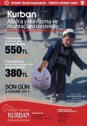 550TL 380TL - Türkiye Diyanet Vakfı