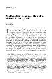 Neoliberal Eğitim ve Yeni İlköğretim Müfredatının Eleştirisi - Praksis