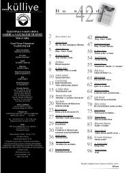 yeni türküler söyle - Bizim Kulliye Dergisi