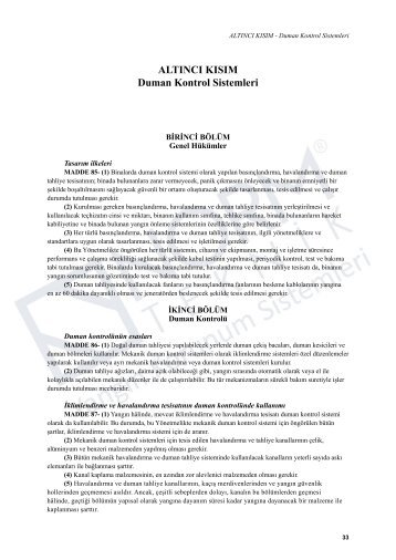 ALTINCI KISIM Duman Kontrol Sistemleri - Norm Teknik, Yangın ...