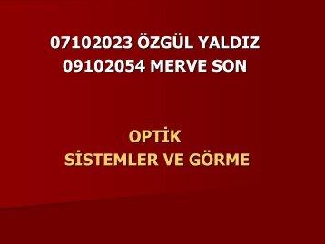 Optik sistem - Mersin Üniversitesi