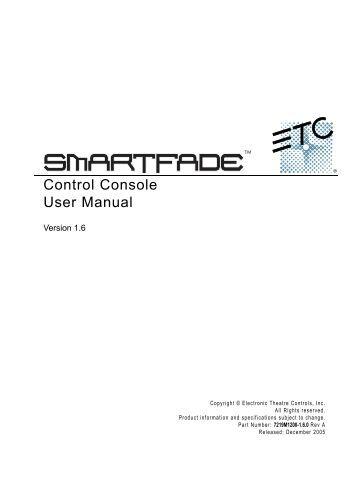 Control Console User Manual