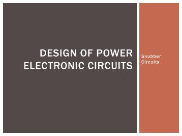 Snubber Circuits