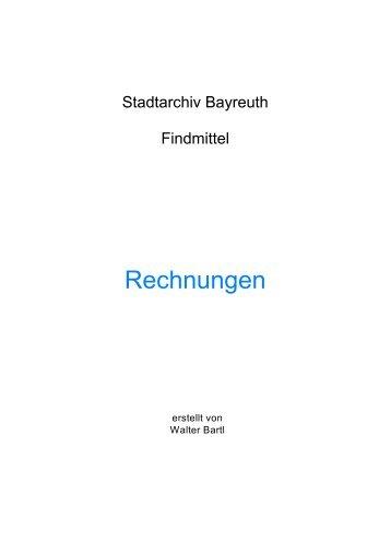 ''Rechnungen'' (PDF) - Stadt Bayreuth