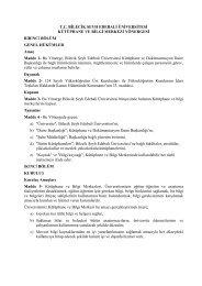 Kütüphane ve Bilgi Merkezi Yönergesi - Bilecik Üniversitesi