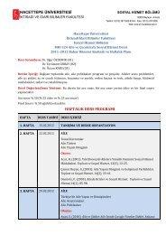 Dr. Ercüment ERBAY - Sosyal Hizmetler - Hacettepe Üniversitesi