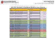 2012–2013 Akademik Yıl Güz Dönemi Final Sınavı Programı