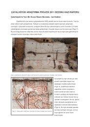 çatalhöyük araştırma projesi 2011 sezonu kazı raporu