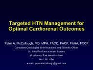 Targeted HTN Management for Optimal Cardiorenal Outcomes