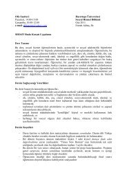 Ofis Saatleri: - Sosyal Hizmetler - Hacettepe Üniversitesi