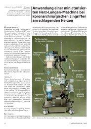 Anwendung einer miniaturisier- ten Herz-Lungen-Maschine bei ...