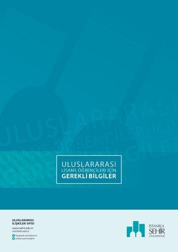 LİSANS ÖĞRENCİLERİ İÇİN - İstanbul Şehir Üniversitesi