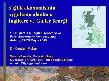 Sağlık Ekonomisinin Uygulama Alanları: İngiltere ve Galler Örneği