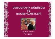 demografik dönüşüm ve bakım hizmetleri