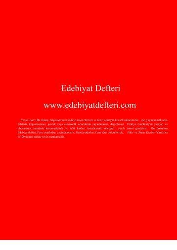 Edebiyat Defteri www.edebiyatdefteri.com