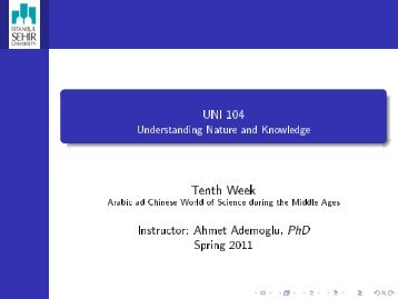 - UNI 104 Understanding Nature and Knowledge - My Sehir