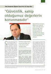 """Prof. Dr. İhsan BAL'ın """"Güvenlik, Özgürlük ve Demokratik Değerler"""""""