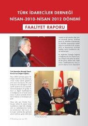 FAALİYET RAPORU - Türk İdareciler Derneği