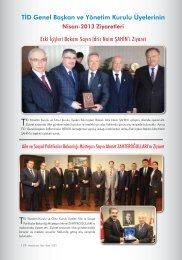 TİD-Genel Başkan ve Yönetim Kurulu Üyelerinin Nisan-2013 ...