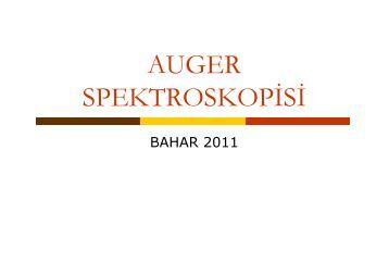 Auger Spektroskopisi