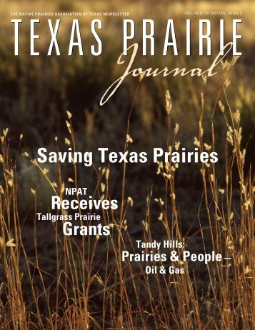 2007 Fall/Winter issue - Native Prairies Association of Texas