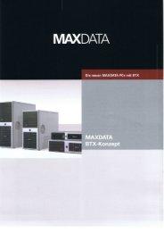 Page 1 MAXDATA Die neuen MAXD TA Pcs mit BTX Page 2 Die ...