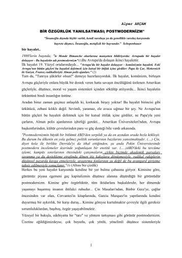Alper AKÇAM BİR ÖZGÜRLÜK YANILSATMASI ... - alperakcam.com