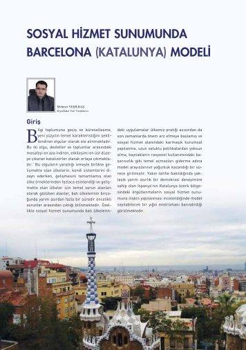 Sosyal Hizmet Sunumunda Barcelona (Katalunya) Modeli Mehmet ...