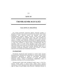 Üremik Kemik Hastalığı - Türk Nefroloji Derneği
