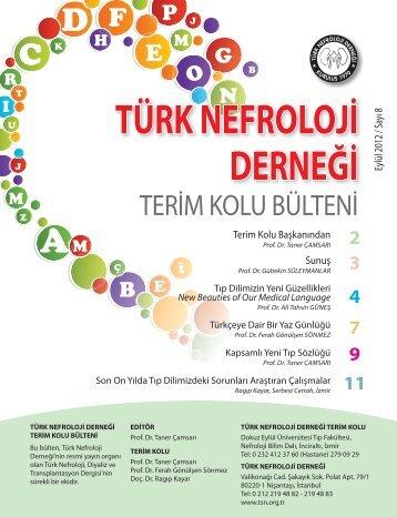 Terim Kolu Bülteni 2012 Eylül.indd - Türk Nefroloji Derneği