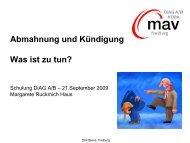 praesentation-abmahn.. - DIAG-MAV Freiburg
