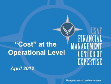 29. Cost at the Operational Level - PDI 2012