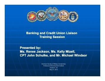 88. Banking/Credit Union Liaison Officer Training - PDI 2012