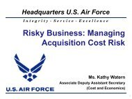 AF13. Risky Business: Managing Acquisition Cost Risk - PDI 2012