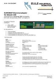 Euromap-Klemmenadapter für Stäubli CS8 - eule-roboter.de