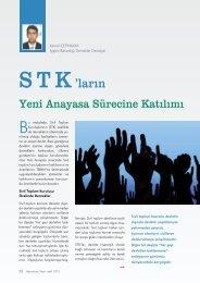 STK'ların Yeni Anayasa Sürecine Katılımı Kemal ÇETİNKAYA