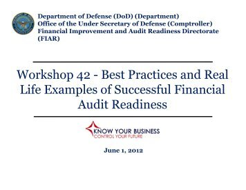 Best Practices and Real Life Examples of Successful ... - PDI 2012