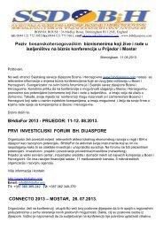 Poziv bosanskohercegovačkim biznismenima koji žive i rade u ...
