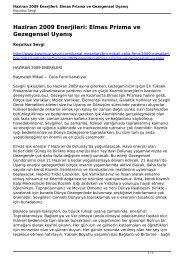 Haziran 2009 Enerjileri: Elmas Prizma ve ... - koşulsuz - sevgi