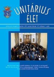 2013 1 - Unitárius tudás-tár