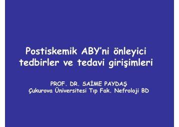 Postiskemik ABY'ni önleyici tedbirler ve tedavi girişimleri