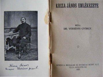 Kriza János emlékezete - Unitárius tudás-tár