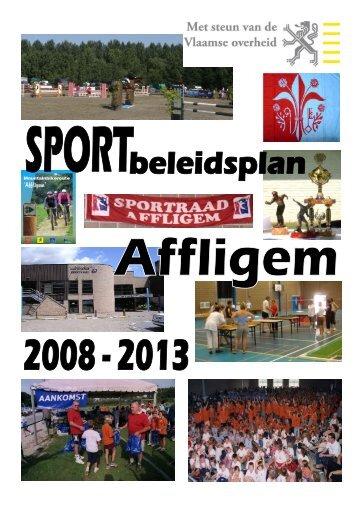 Ontstaan sportbeleidsplan: - Gemeente Affligem