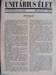 1983. Március - Április - Unitárius tudás-tár