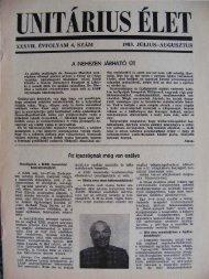 1983. Július - Augusztus - Unitárius tudás-tár