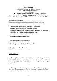 draf teks ucapan naib canselor - UMS - Universiti Malaysia Sabah