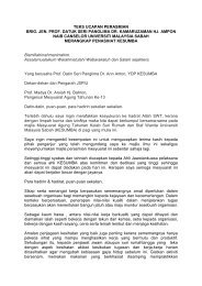 TEKS UCAPAN PERASMIAN - UMS - Universiti Malaysia Sabah