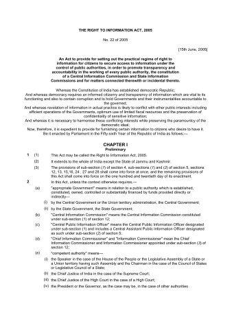 Right of Information Act 2005 - Municipal Corporation Jalandhar