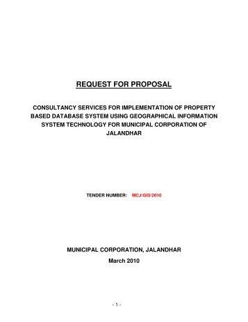 REQUEST FOR PROPOSAL - Municipal Corporation Jalandhar