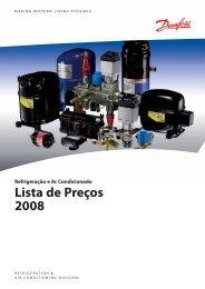 Refrigeração e Ar Condicionado Lista de Preços 2008 - Danfoss
